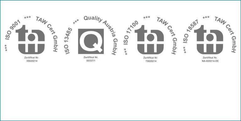 ISO Zertifikate Logos