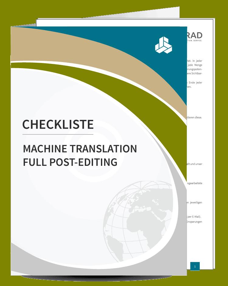 Checkliste Post-Editing von MT-Output