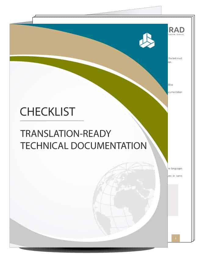 Checklist for technical documentation that's suitable for translation