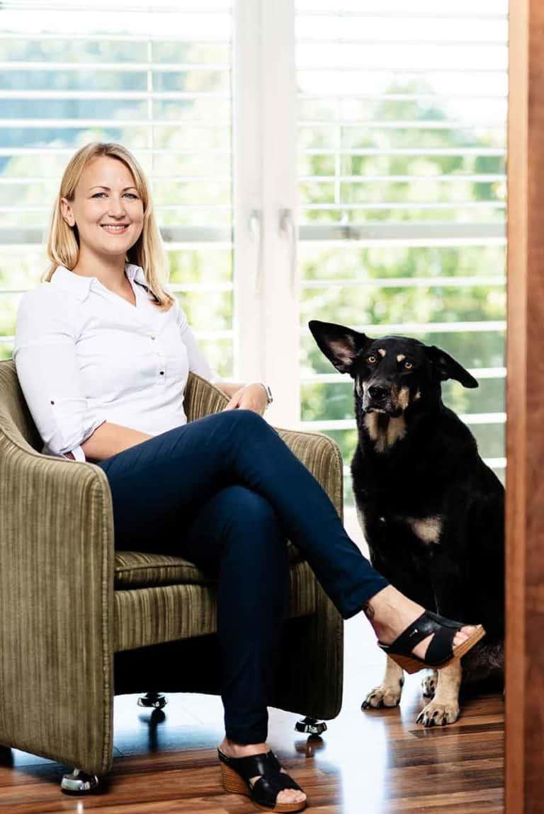 Eva Reiterer and her dog Jumbo