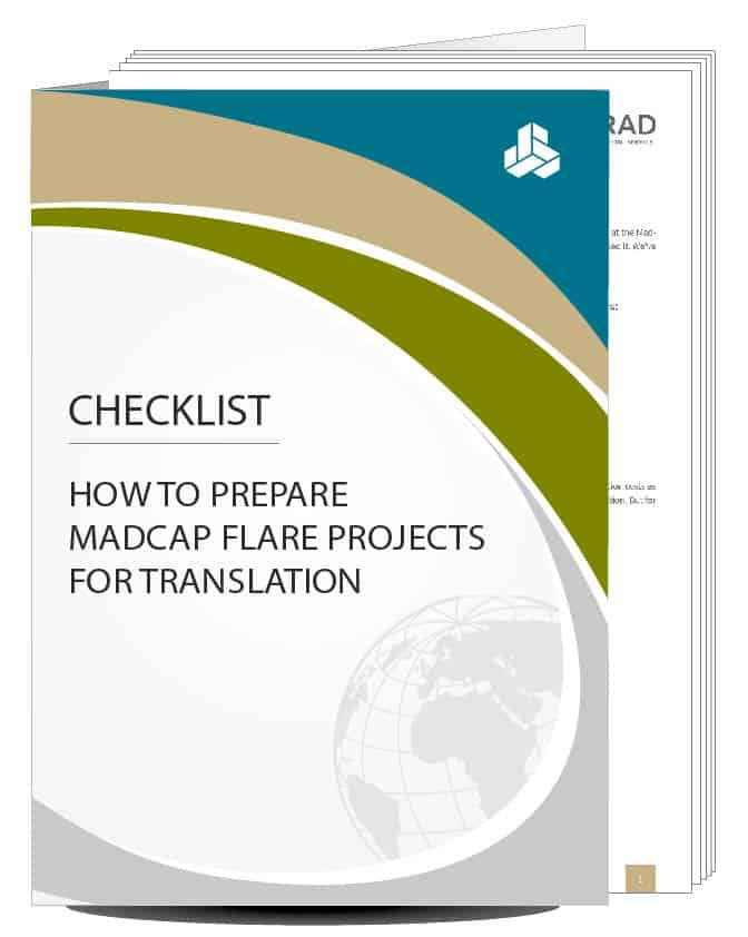 MadCap Flare checklist – layouts suitable for translation
